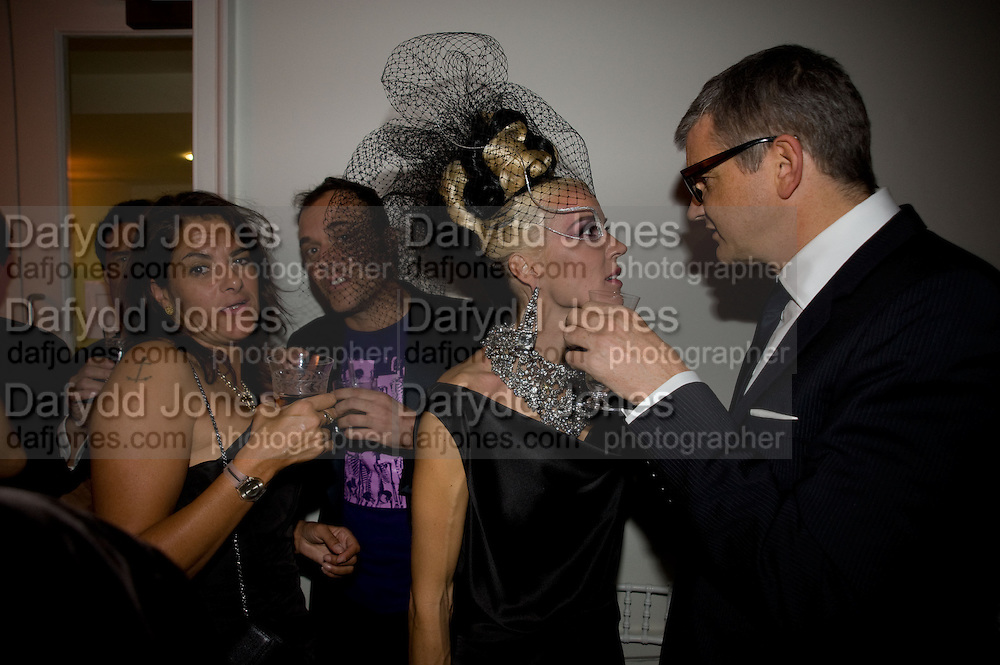 tracey emin; david lachapelle; daphne guinness;  jay jopling, Nicky Haslam party for Janet de Botton and to celebrate 25 years of his Design Company.  Parkstead House. Roehampton. London. 16 October 2008.  *** Local Caption *** -DO NOT ARCHIVE-© Copyright Photograph by Dafydd Jones. 248 Clapham Rd. London SW9 0PZ. Tel 0207 820 0771. www.dafjones.com.