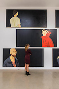 Nicole 2014. Black Paintings by Alex Katz – an exhibition of new large-scale paintings at the Timothy Taylor Gallery, Mayfair. Katz's paintings are at once figurative and abstract – his larger-than-life portraits and landscapes often looming large over their observers. However, in these new works, rather than filling each frame, the subjects are assigned to the margins with black space occupying most of each canvas. Katz has been the subject of over 200 solo exhibitions and nearly 500 group shows internationally since 1951, and has been honoured with numerous retrospectives including The Whitney Museum of American Art, New York, USA; Tate St. Ives, UK; Turner Contemporary, Margate, UK; and The Guggenheim, Bilbao, Spain.