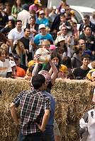 In August the annual cheese rolling contest brings athletic contestants to Whistler, BC, Canada. The first to catch the rolling cheese as it heads down Blackcomb Mountain wins a seasons' ski pass. The winner of the womens' race celebrates her win with the Cheese.