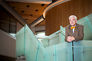 A portrait of John Stalvey, Dean of the College of Arts and Sciences, inside the ConocoPhilips Integrated Science Bldg at the University of Alaska, Anchorage campus.