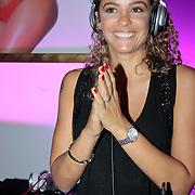 NLD/Amsterdam/20110521 - Amsterdam fashion Gala 2011, DJ Fajah Lourens achter de draaitafel