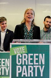 © Licensed to London News Pictures. 22/05/2017. London, UK.  Sian Berry speaks at the launch of the Green Party's manifesto launch ahead of the upcoming General Election at a press conference in central London.  Photo credit : Stephen Chung/LNP