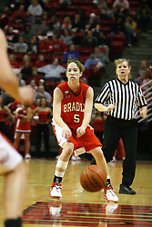 28 January 2007: Jen Brown. Before a record crowd or nearly 4200, the Bradley Braves were defeated by the conference leading (9-0) Redbirds of Illinois State University by a score of 55-47 at Redbird Arena in Normal Illinois.