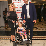London, UK, 8th June 2017. Savannah Keane and her parent attends the the Variety's 15th Gastronomic Evening is a Children Charity at The Dorchester, 55 Park Lane, London. by See Li
