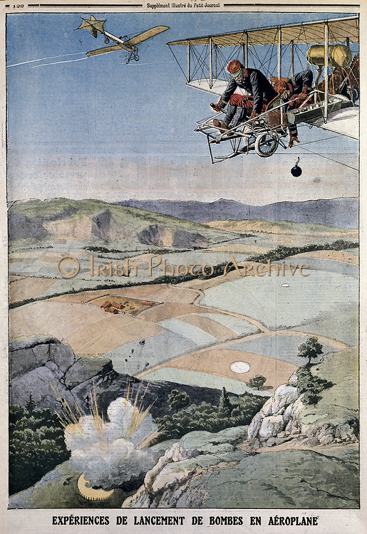 ar Paris chosen for h air corps on bomb practice at Chalons. From 'Le Petit Journal', Paris, 14 April 1912.