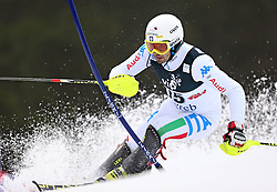 06.01.2013, Crveni Spust, Zagreb, CRO, FIS Ski Alpin Weltcup, Slalom, Herren, 1. Lauf, im Bild Patrick Thaler (ITA) // Patrick Thaler of Italy in action // during 1st Run of the mens Slalom of the FIS ski alpine world cup at Crveni Spust course in Zagreb, Croatia on 2013/01/06. EXPA Pictures © 2013, PhotoCredit: EXPA/ Pixsell/ Sanjin Strukic..***** ATTENTION - for AUT, SLO, SUI, ITA, FRA only *****