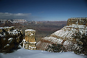 Grand Canyon with snow from Moran Point
