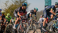 DOULL Owain of Team Sky in the peloton during the 115th Paris-Roubaix (1.UWT) from Compiègne to Roubaix (257 km) at cobblestones sector 25 from Briastre to Solesmes, France, 9 April 2017. Photo by Pim Nijland / PelotonPhotos.com | All photos usage must carry mandatory copyright credit (Peloton Photos | Pim Nijland)