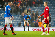 Connor Goldson (#6) of Rangers FC at the final whistle of the  Ladbrokes Scottish Premiership match between Rangers and Aberdeen at Ibrox, Glasgow, Scotland on 5 December 2018.