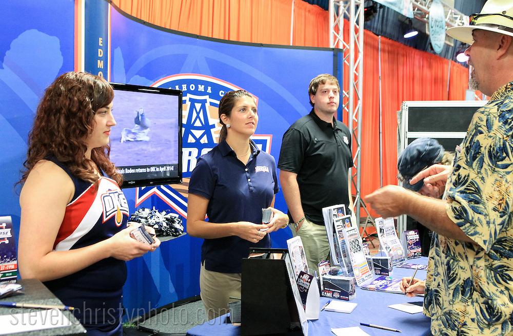 September 15, 2013: The Oklahoma City Barons staff a booth at the Oklahoma State Fair.