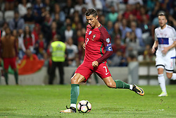 August 31, 2017 - Porto, Portugal - Portugal's forward Cristiano Ronaldo in action during the 2018 FIFA World Cup qualifying football match between Portugal and Faroe Islands at the Bessa XXI stadium in Porto, Portugal on August 31, 2017. (Credit Image: © Pedro Fiuza/NurPhoto via ZUMA Press)