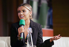 Fashion blogger Molly McFarlane at youth enterprise event. Edinburgh, 23 May 2019