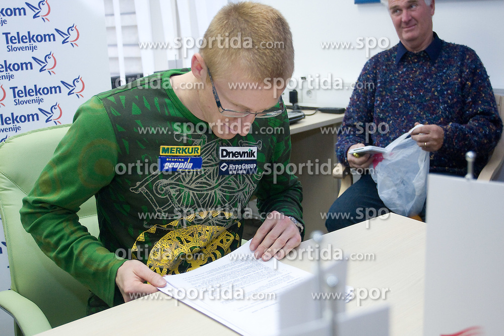 Matic Osovnikar when Slovenian athletes and their coaches sign contracts with Athletic federation of Slovenia for year 2009,  in Ljubljana, Slovenia, on March 2, 2009. (Photo by Vid Ponikvar / Sportida)