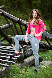Sara Mitrakovic posing during official photo shoot of Miss Sporta Slovenije 2016, on April 23, 2016 in Tivoli, Ljubljana, Slovenia. Photo by Vid Ponikvar / Sportida