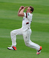 Somerset's Josh Davey. Photo mandatory by-line: Harry Trump/JMP - Mobile: 07966 386802 - 10/05/15 - SPORT - CRICKET - Somerset v New Zealand - Day 3- The County Ground, Taunton, England.