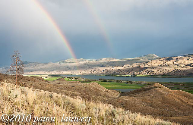 Storm in the Kamloops hillside