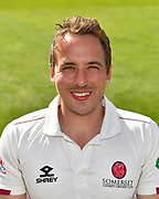 Head shot of Josh Davey of Somerset during the 2019 media day at Somerset County Cricket Club at the Cooper Associates County Ground, Taunton, United Kingdom on 2 April 2019.