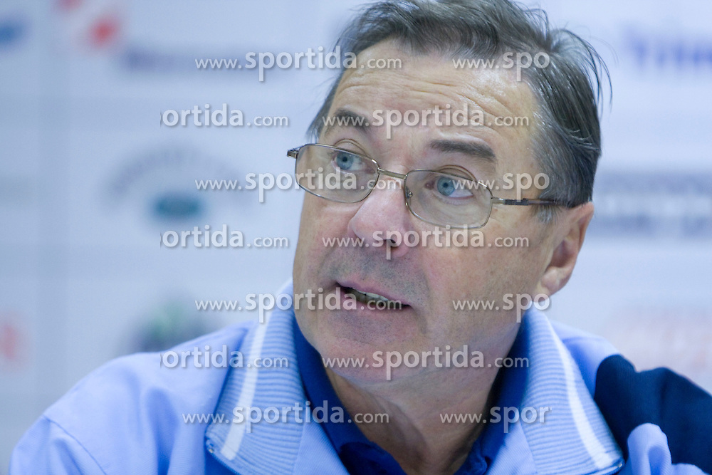 Head coach Miro Pozun at press conference of Handball Men National Team of Slovenia before match with Bolgaria,  on November 24, 2008 in RZS, Ljubljana, Slovenia.  (Photo by Vid Ponikvar / Sportida)