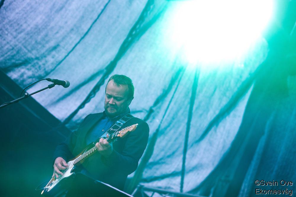 Bilde fra konserten til Ole Paus på Midtsommerjazz 2013 i Ålesund.<br /> Foto: Svein Ove Ekornesvåg