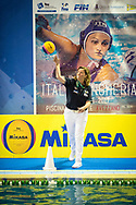 Referee  Diana DUTILH-DUMAS (NED)<br /> ITA v HUN Italy versus Hungary<br /> FINA Women Water Polo World League qualification round<br /> Avezzano (AQ) Italy ITA Piscina Comunale Avezzano <br /> Centro Italia Nuoto  Unipol<br /> April 18th, 2017 <br /> Photo &copy;D.Montano/Deepbluemedia/Insidefoto