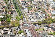 Nederland, Noord-Holland, Hoofddorp, 09-04-2014; centrale as van Hoofddorp, kruising Kruisweg met Hoofdvaart. Historisch centrum van de stad, voormalig dorp<br /> Historic center of the city, former village.<br /> luchtfoto (toeslag op standard tarieven);<br /> aerial photo (additional fee required);<br /> copyright foto/photo Siebe Swart