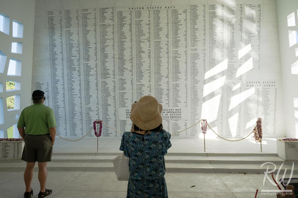 USS Arizona Memorial at Pearl Harbor, O'ahu, Hawaii