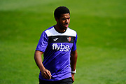Reuben Reid (33) of Exeter City warming up before the EFL Sky Bet League 2 match between Exeter City and Lincoln City at St James' Park, Exeter, England on 19 August 2017. Photo by Graham Hunt.