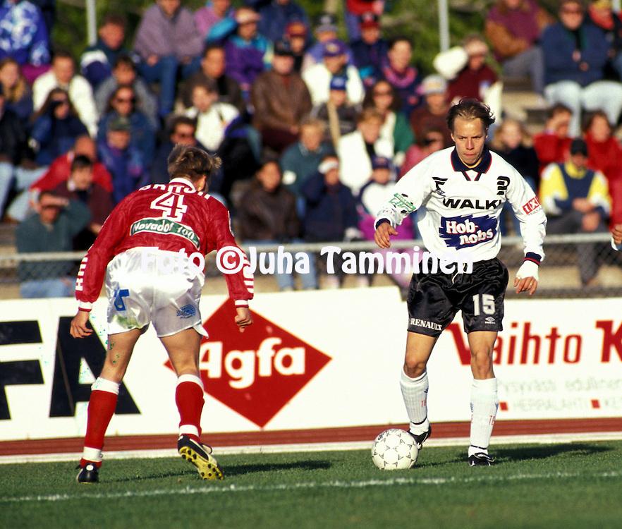 22.05.1994, Pori, Finland..Veikkausliiga, FC Jazz v FC Haka..Sami Ristil? - Haka.©Juha Tamminen