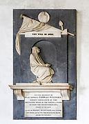 Memorial monument by John Flaxman inside Tattingstone church, Suffolk, England, UK
