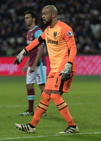 Football - 2016 / 2017 Premier League - West Ham United vs. Arsenal <br /> <br /> Darren Randolph of West Ham  at The London Stadium.<br /> <br /> COLORSPORT/DANIEL BEARHAM