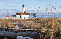The Dungeness Lighthouse, Dungeness Spit State Park, Washington State, USA.