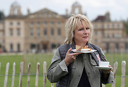 Jennifer Saunders having photos taken in support of Brooke's fundraiser 'High Teas for Gee Gees' during day three of the Mitsubishi Motors Badminton Horse Trials at The Badminton Estate, Gloucestershire. PRESS ASSOCIATION Photo. Picture date: Friday May 4, 2018. Brooke is an international charity that protects and improves the lives of the working horses, donkeys and mules that give people in the developing world the opportunity to work their way out of poverty. See PA story EQUESTRIAN Badminton. Photo credit should read: David Davies/PA Wire