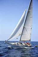 Sailing off the coast of Santa Barbara California