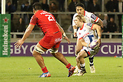 Faf De Klerk man of the match during the European Rugby Challenge Cup match between Sale Sharks and Toulouse at the AJ Bell Stadium, Eccles, United Kingdom on 13 October 2017. Photo by George Franks.