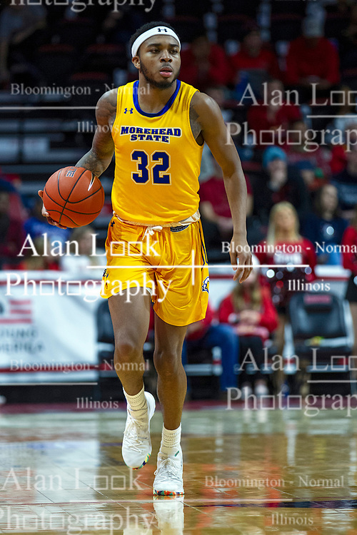 NORMAL, IL - December 07: Djimon Henson during a college basketball game between the ISU Redbirds and the Morehead State Eagles on December 07 2019 at Redbird Arena in Normal, IL. (Photo by Alan Look)