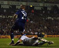 Photo: Tony Oudot.<br /> Tottenham Hotspur v Everton. The Barclays Premiership. 14/08/2007.<br /> Leon Osman scores for Everton