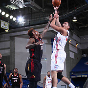 Delaware 87ers Forward Drew Gordon (32) drives towards the basket as Sioux Falls Skyforce Forward Fuquan Edwin (17) defends in the first half of a NBA D-league regular season basketball game between the Delaware 87ers and the Sioux Falls Skyforce (Miami Heat) Tuesday, Jan. 27, 2015 at The Bob Carpenter Sports Convocation Center in Newark, DEL