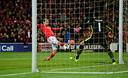 Aaron Ramsey of Wales comes close in the final few minutes of the game. - Mandatory by-line: Alex James/JMP - 12/11/2016 - FOOTBALL - Cardiff City Stadium - Cardiff, United Kingdom - Wales v Serbia - FIFA European World Cup Qualifiers