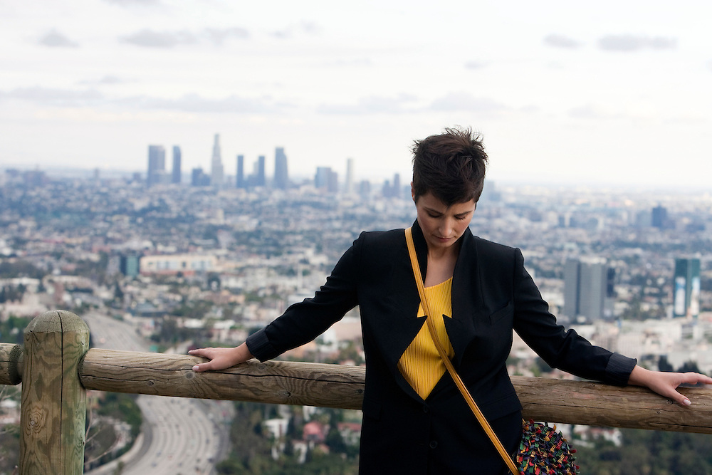 Polish actress Joanna Brodzik takes in the sites around Los Angeles.