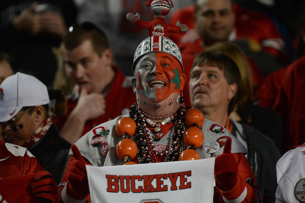 January 3, 2014: The NCAA football game between the Clemson Tigers and the Ohio State Buckeyes at the 2014 Orange Bowl in Miami Gardens, Florida. The Tigers defeated the Buckeyes 40-35.