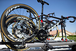 Twenty20 p\b SHO-AIR spare bikes are ready for  Stage 1 of the Amgen Tour of California - a 124 km road race, starting and finishing in Elk Grove on May 17, 2018, in California, United States. (Photo by Balint Hamvas/Velofocus.com)