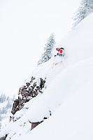 Skier: Tom Runcie<br /> Location: Grand Targhee, WY