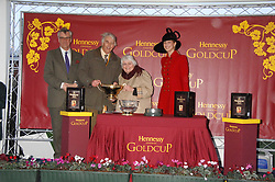 Left to right, MAURICE HENNESSY, the owners of Denman and LADY GABRIELLA WINDSOR at the 2007 Hennessy Gold Cup held at Newbury racecourse, Berkshire on 1st December 2007.<br />