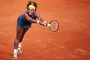 Paris, France. Roland Garros. May 29th 2013.<br /> American player Serena WILLIAMS against Caroline GARCIA