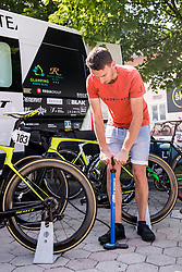 Worker of Team Slovenia during 3rd Stage of 26th Tour of Slovenia 2019 cycling race between Zalec and Idrija (169,8 km), on June 21, 2019 in Slovenia. Photo by Matic Klansek Velej / Sportida
