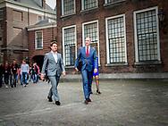DEN HAAG - (VLNR) Gert-Jan Segers (ChristenUnie), Carola Schouten (Christenunie), Pieter Heerma (CDA) en Sybrand Buma (CDA) bij aankomst op het Binnenhof voor onderhandelingen met informateur Gerrit Zalm.  copyright robin utrecht