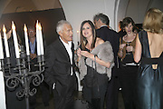 Mr. and Mrs. Vidal Sassoon, VIP opening of Bill Viola exhibition Love/Death: The Tristan project. Haunch of Venison, St Olave's College, Tooley St. London and Dinner afterwards at Banqueting House. Whitehall. 19 June 2006. ONE TIME USE ONLY - DO NOT ARCHIVE  © Copyright Photograph by Dafydd Jones 66 Stockwell Park Rd. London SW9 0DA Tel 020 7733 0108 www.dafjones.com