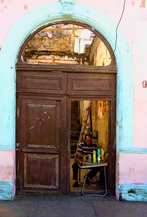 Lighter repair in Cardenas, Matanzas, Cuba.