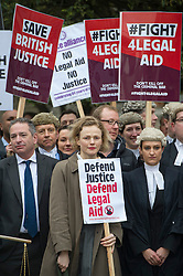 Actress Maxine Peake joins Hundreds of Lawyers,Solicitors and legal workers whilst bringing the legal system to a halt descend on Parliament to protest against legal aid cuts. London, United Kingdom. Friday, 7th March 2014. Picture by  i-Images / i-Images