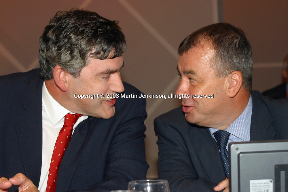 Gordon Brown MP, Chancellor of the Exchequer, and  Brendan Barber, TUC General Secretary.